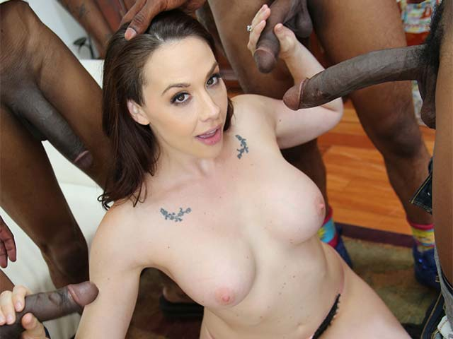 Chanel Preston BTS from
