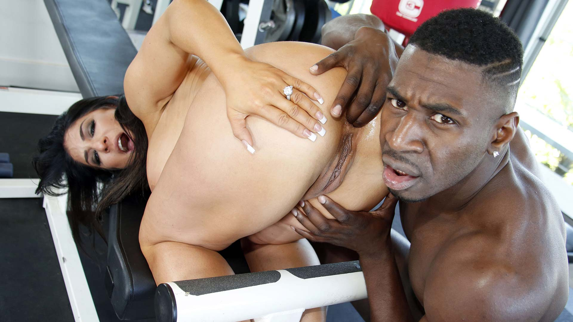 Gloryhole Raven Hart Interracial Porn